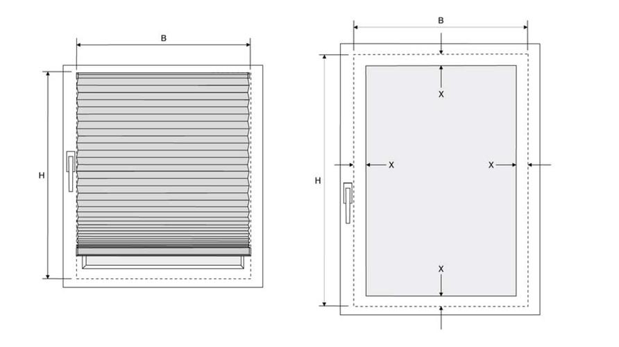 plissee wie messen trendy plissee gerader glasfalz with. Black Bedroom Furniture Sets. Home Design Ideas